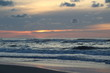 Sunset at the beach on Terschelling, the Netherlands.