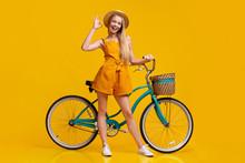 Cute Girl In Summer Jumpsuit, ...