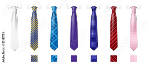 Fotografia Tie mockup with different fashion pattern