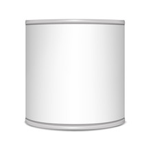 Round Tin Can, Vector Mockup. ...