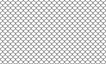 Line Art Of Fish Scale Pattern...