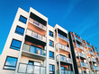 Leinwandbild Motiv Apartment house home residential building real estate copy space_4x3