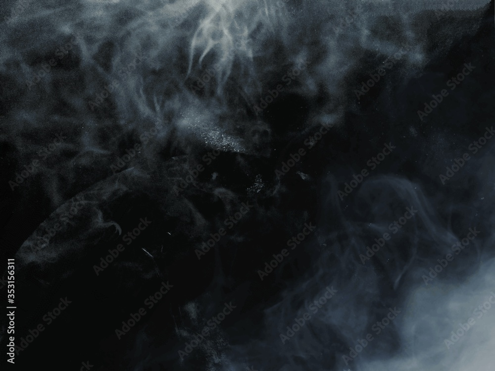 Fototapeta white smoke on dark background