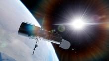 Hubble Telescope In Orbit Of T...