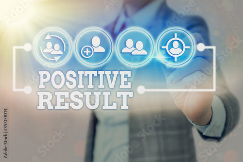 Fototapeta Writing note showing Positive Result