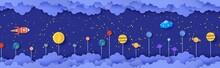 Night Sky Seamless Pattern Wit...