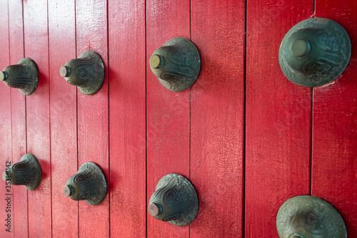 Doorway to the Confucius Shrine, Nagasaki, Japan Fototapet