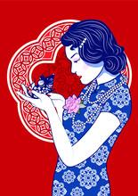 Beautiful Lady Chinese With Ra...