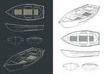 Boat Blueprints Illustration