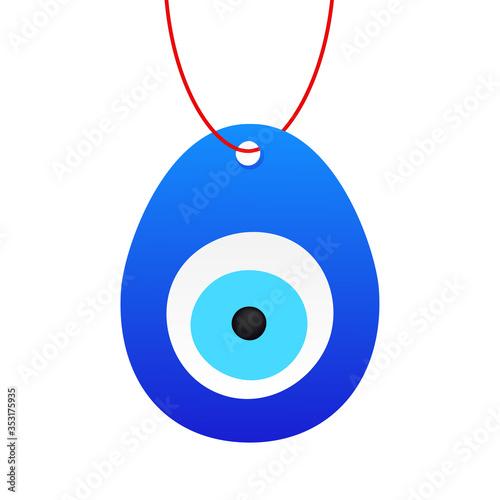 Photo Eye-shaped amulet in flat style