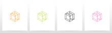 Cubic Wireframe Letter Logo Design S