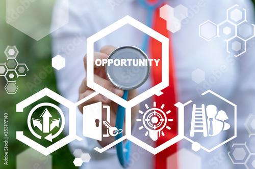 Opportunity Achievement Business Success Career Progress Direction Concept Canvas Print