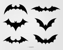 Variety Of Bat Silhouette Set