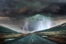 Beautiful Shot Of A Road With ...