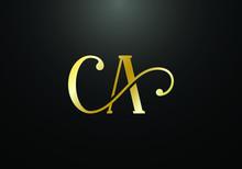 Initial Monogram Letter CA Log...