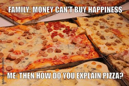 Fotomural Pizza meme