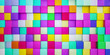 colorful blocks cubes abstract background 3d rendering illustration