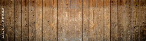 Plakat Rustykalny  old-brown-rustic-dark-grunge-wooden-texture-wood-background-banner-panorama