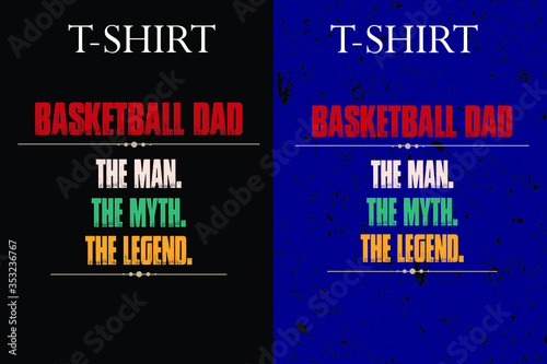 basketball the man the myth the legend t-shirt design Canvas Print