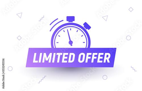 Fototapeta Promo limited offer sale price tag