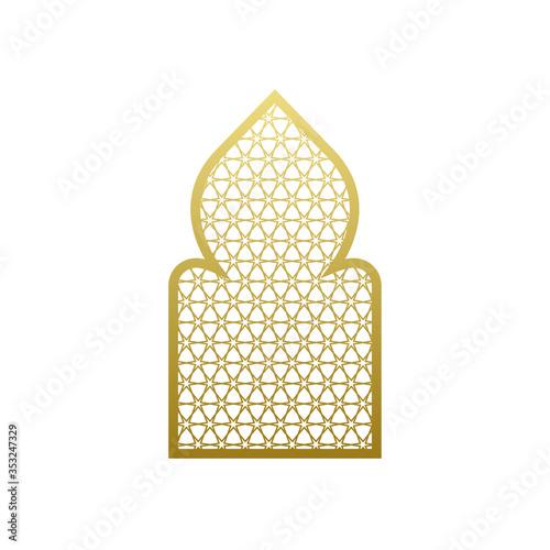 Arab vector window door pattern Canvas Print