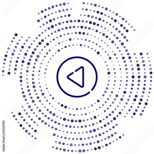 Fototapeta back vector icon