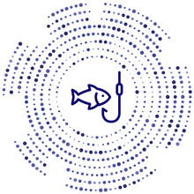 Fishing Vector Icon. Fishing Editable Stroke. Fishing Linear Symbol For Use On Web And Mobile Apps, Logo, Print Media. Thin Line Illustration. Vector Isolated Outline