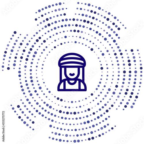 Fototapeta rastafari vector icon