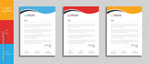 Fototapeta Modern Creative & Clean business style letterhead of your corporate project design.set to print with vector & illustration obraz