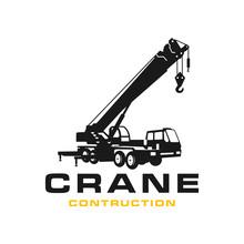 Silhouette Transport Crane Logo
