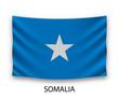 Hanging silk flag somalia