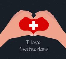 I Love Switzerland, Card, Post...