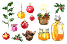 Christmas Decor. Food Sketch W...