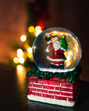 Santa Clause Figurine Inside T...
