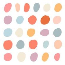 Set Of Simply Doodle Random Shapes. Modern Color Organic Blob Fluid Form Collection