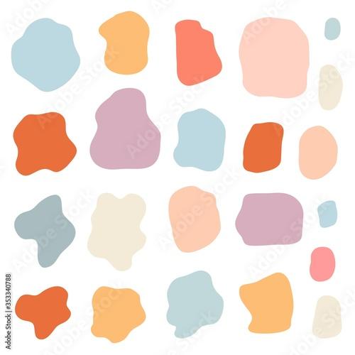 Set of simply doodle random shapes Canvas Print