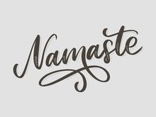 Hand Drawn Namaste Card. Hello...