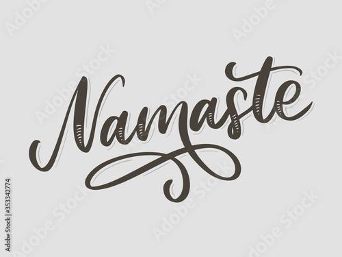 Hand drawn namaste card Fototapet