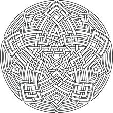 Pentagram With Mandala Ornamen...