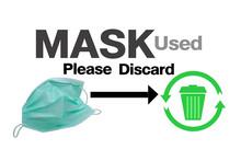 Mask Used Pelease Discard Wast...