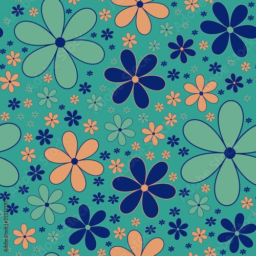 Photo Scandinavian floral folk pattern