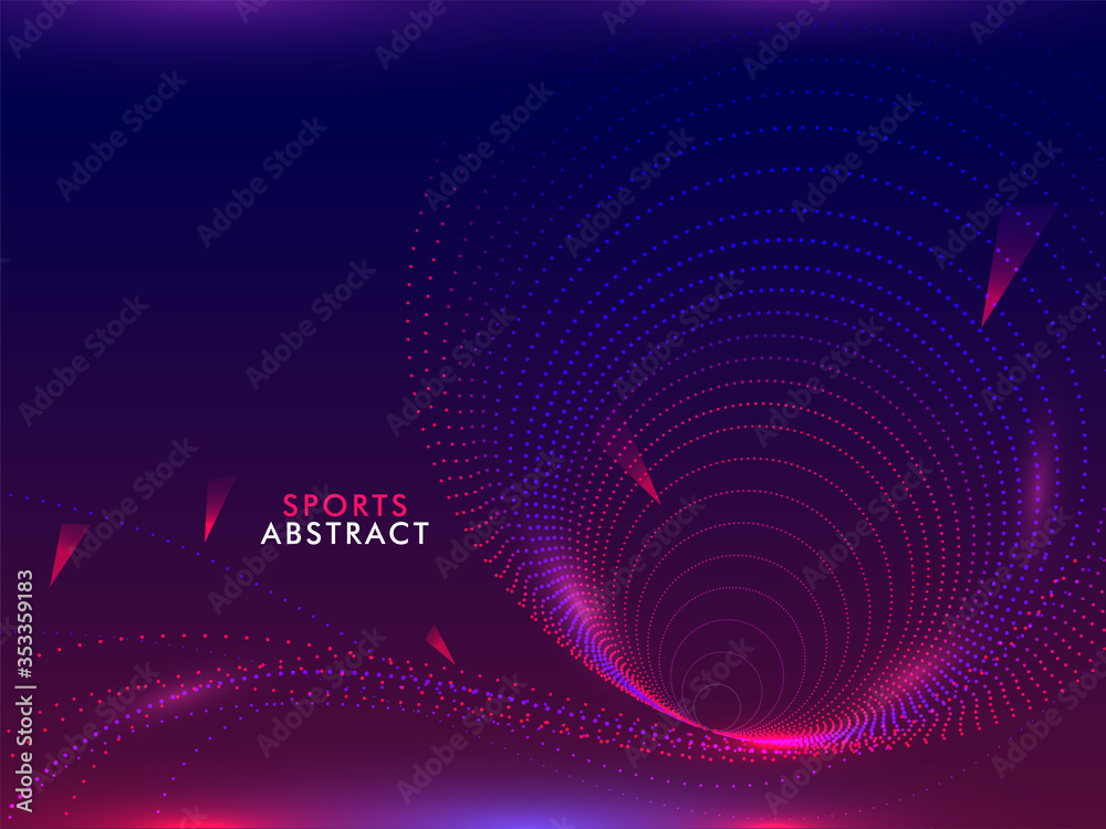 Fototapeta Sports Abstract Gradient Background with Particles Moving Curve.