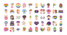 Bundle Of Gay Pride Icons And ...