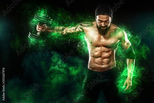 Tela Athlete in green energy lights