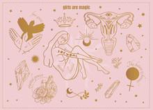 Symbols Of Magic Female Power:...
