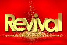 Revival In Red Background And ...
