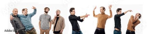Photo Various communications between young men