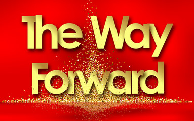 The Way Forward in red background and golden stars