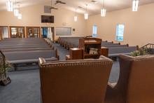 Shot Of Inside Of Empty Church...