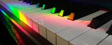 Abstract Colorful Piano Keys